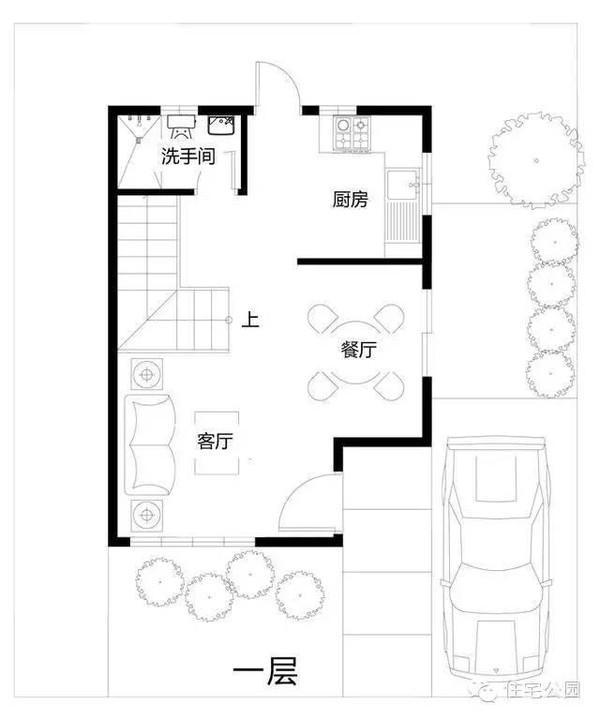 80平米宅基地 2层经典自建房户型及平面图
