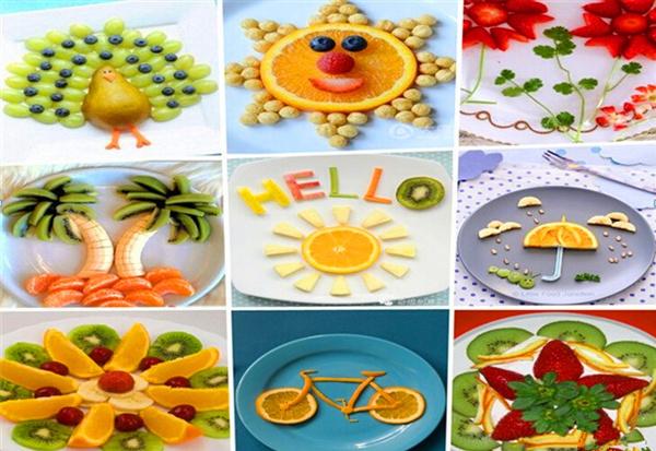 吸引孩子眼球的创意水果拼盘_儿童水果拼盘创意图片