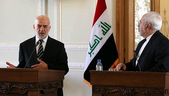 伊拉克外长杰佛利(左)与伊朗外长扎里夫(右)。图片来源:网络