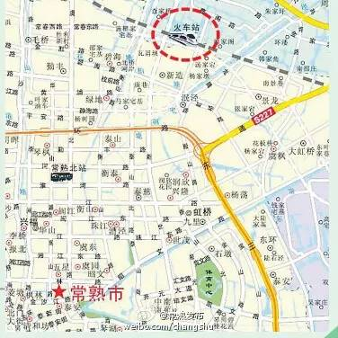【旅游快讯】新版常熟地图首现铁路高架环路常熟终于迎来铁路时代!