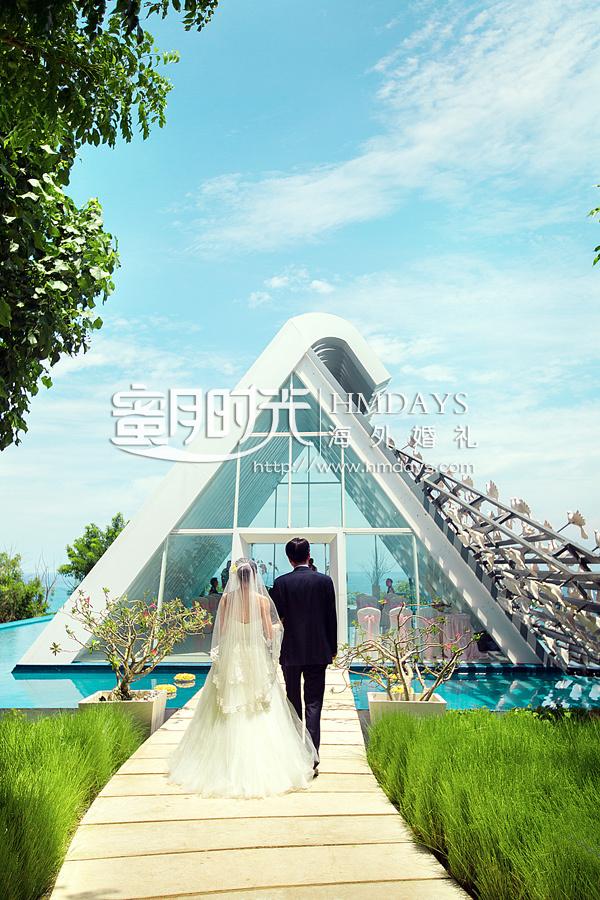 巴厘岛海外婚礼 悦榕庄白鸽教堂