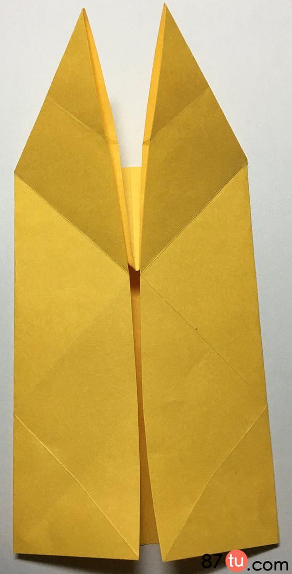 儿童手工折纸蝴蝶图解教程