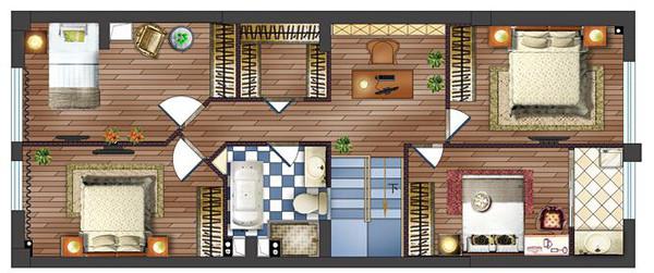 朋友家160平复式地中海风格房子装修好棒!(续图片