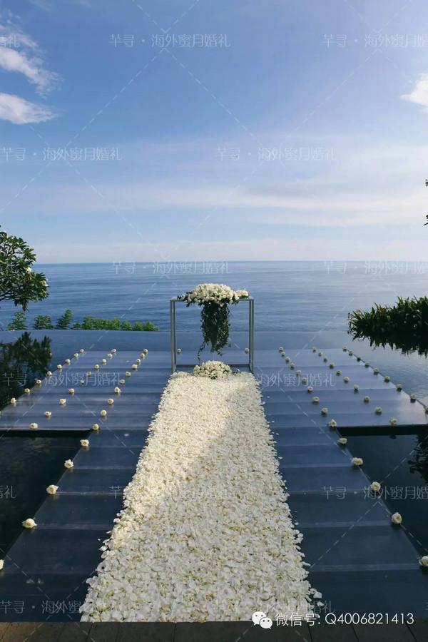 你真漂亮!我真幸运!巴厘岛宝格丽水上婚礼