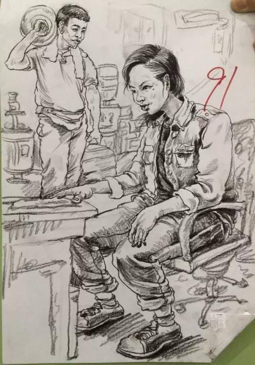 广东美术高考二模90分卷 2016年图片