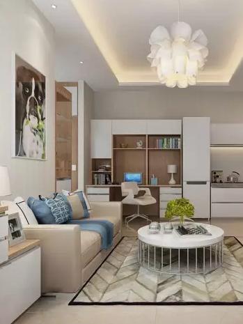 浅咖啡色的沙发,配什么颜色茶几和电视柜好看,电视背景墙用什么颜