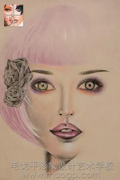 创意手绘缔造华丽美妆  爱手绘  更爱彩妆  你也来试试吧!