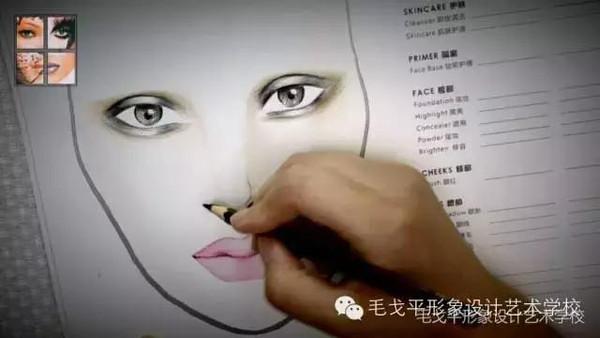 创意手绘缔造华丽美妆