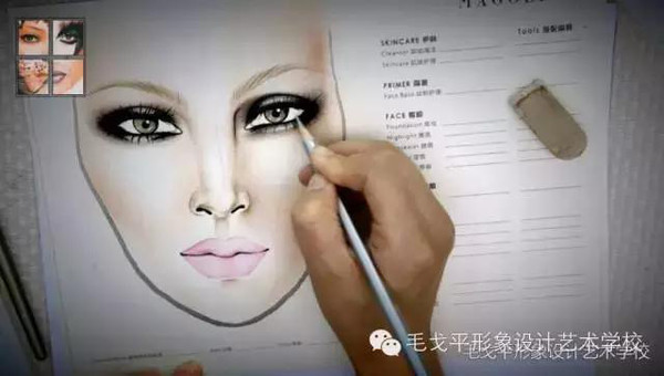 在流传的各式各样手绘图中,以美妆,发型,时装为绘画重点的图片尤其引