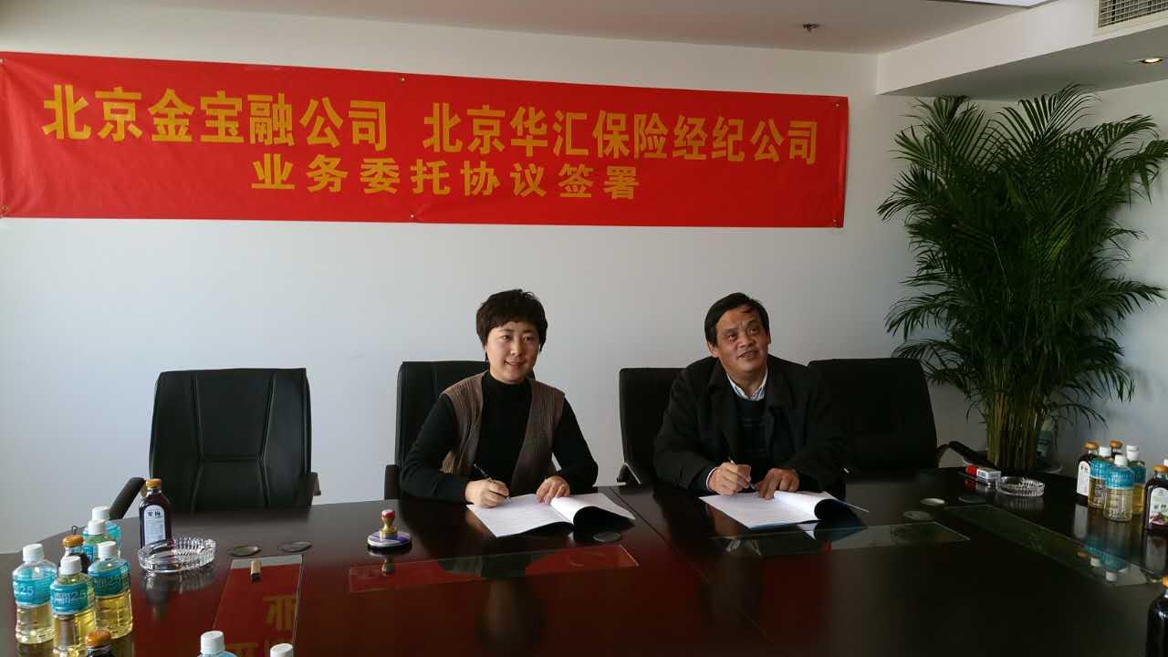 心海集团旗下华汇保险与金宝融签署业务委托协