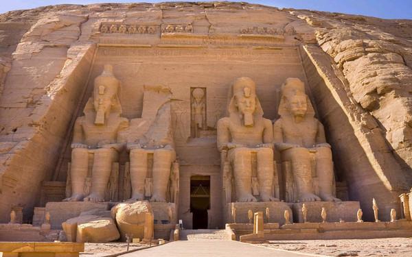 埃及手绘地理地图
