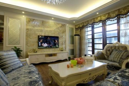 简约风格电视背景墙装修效果图高清图片