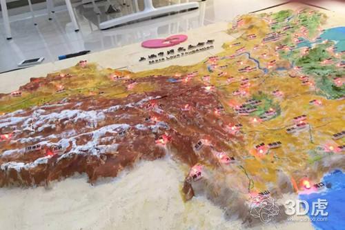 美哭啦!3d打印定制版中国地图