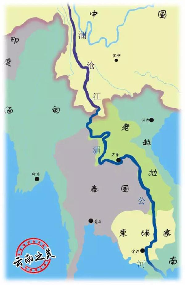 青海省澜沧江地图