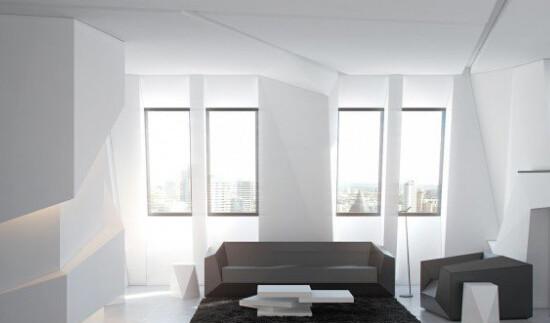 超前卫黑白室内设计风格欣赏