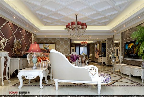 维多利亚280平四室两厅欧式装修效果图图片
