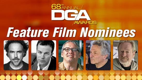 第68届导演工会奖提名出炉 阿加多等入围