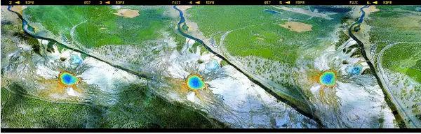 王琛航拍作品《上帝之眼》。2015.10.1 美国黄石公园