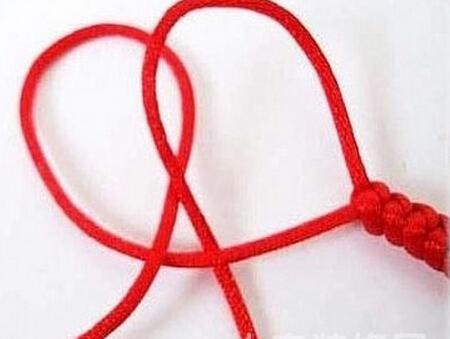 玉石红绳手链编法图解