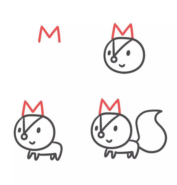 企鹅简笔画 小动物