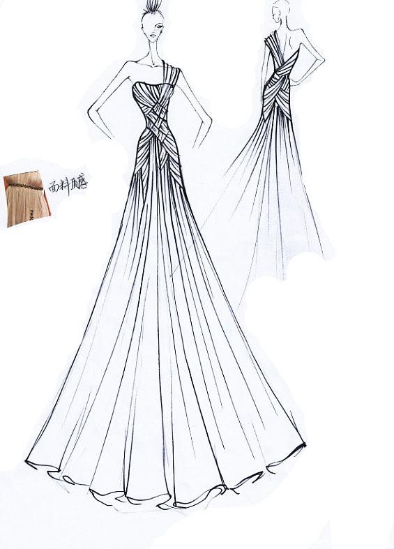 婚纱礼服制作过程图片