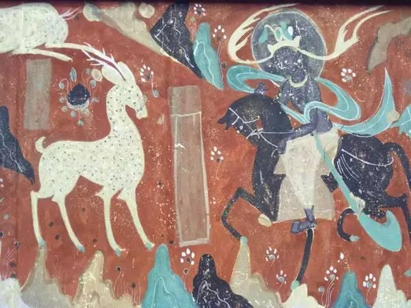 旅游 正文  图3,61窟五台山(局部)图,莫高窟内的原图在一千多年前就
