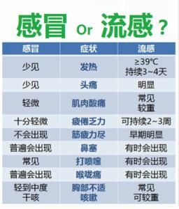流感与普通感冒有何不同?如何预防与治疗?