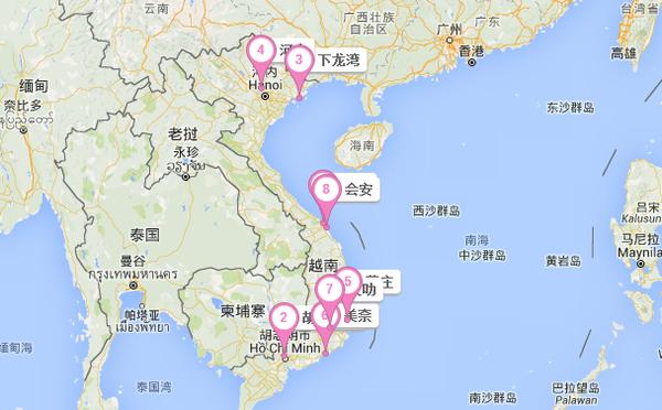 1月份越南自由行高清地图