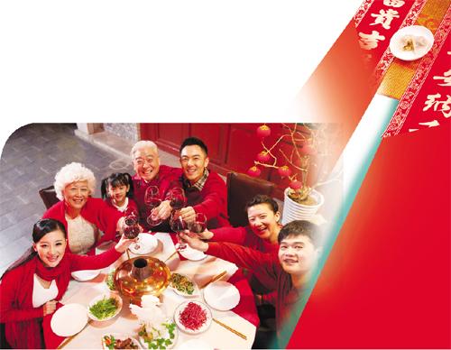 春节是合家团圆的日子,一家人既然决定猴年春节在境外旅行过年,年夜饭图片