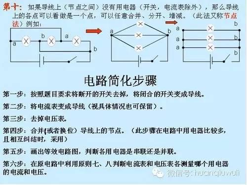 初中物理电路的分析方法