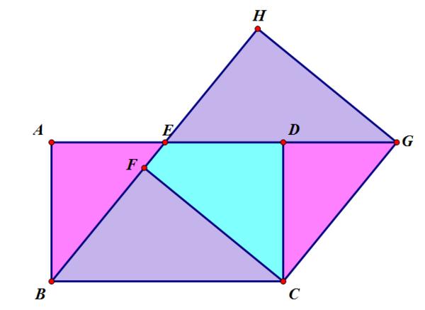 成,由   作线段BE=√15交AD于E,作线段CF垂直BE于F,利用Rt△