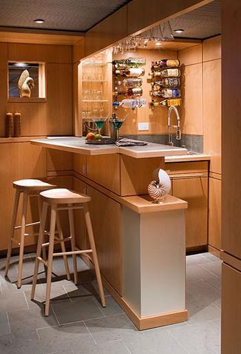 家庭吧台设计 享受居家的二人世界(组图)图片