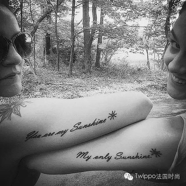 或者是一句歌词:you are my sunshine,my only sunshine.