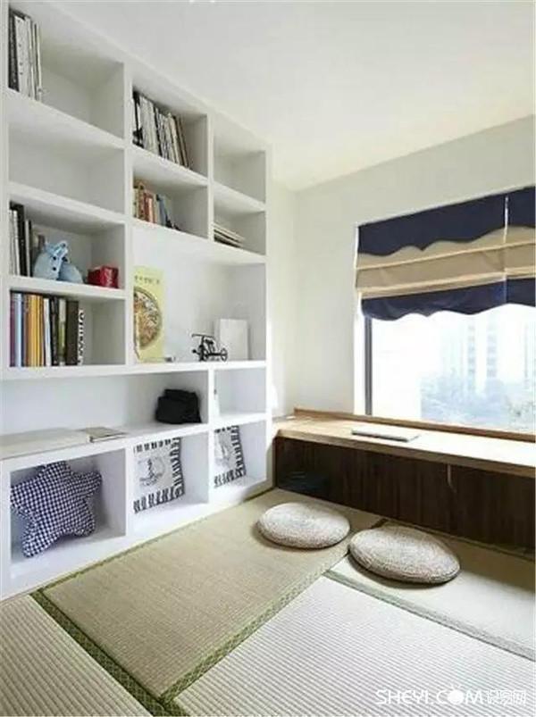 榻榻米&飘窗 飘窗是房屋设计中一个常见的结构,如果不加利用,那么就