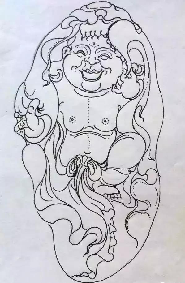 玉雕师手绘图稿!