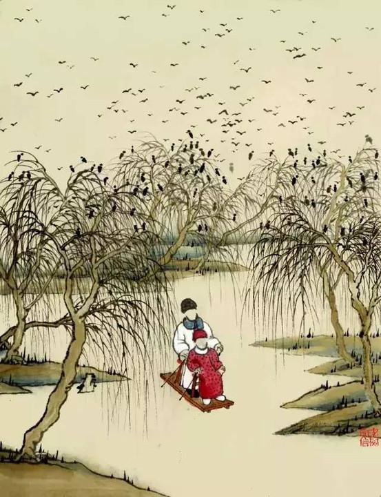 一年节气过完,就等回家过年 快快收藏老树画画24节气全集