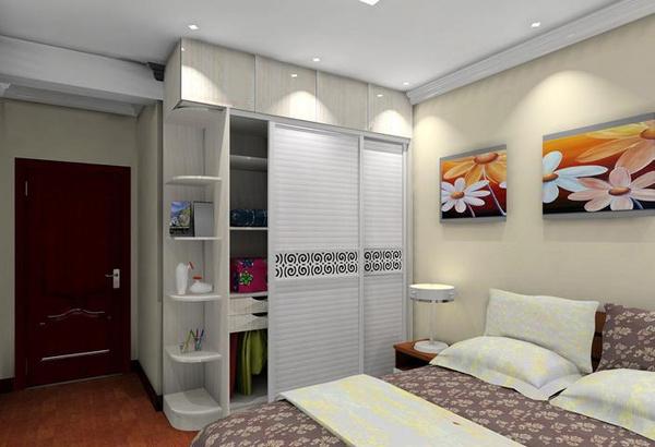 卧室定制衣柜效果图_家庭装修衣柜,家庭布衣柜,房屋装修衣柜_大山谷图库