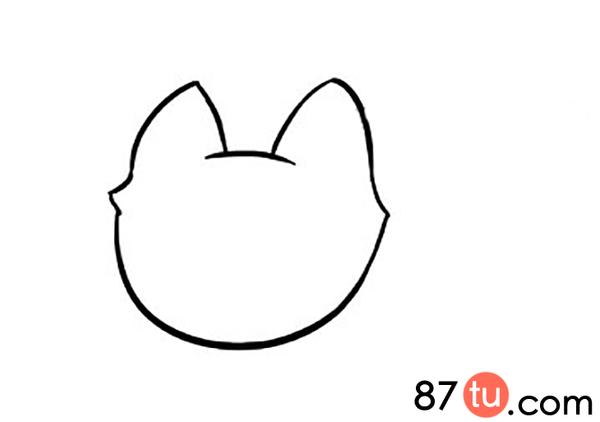 可爱的小狐狸简笔画图解教程