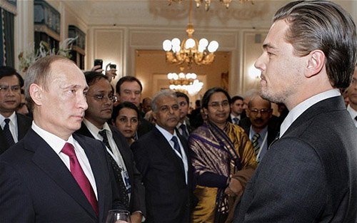 2010年时的小李与时任俄罗斯总理普京