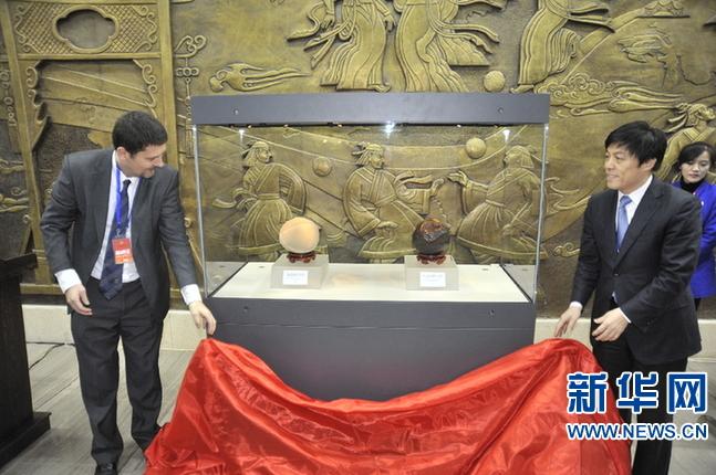 临淄足球博物新馆开放 英国
