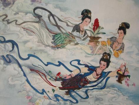 """""""天女散花""""的民间神话故事流传千年长盛不衰"""