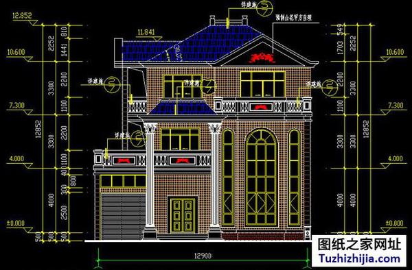 别墅设计手绘剖面图