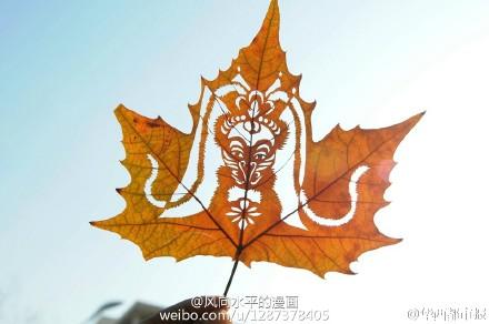 猴年叶子画