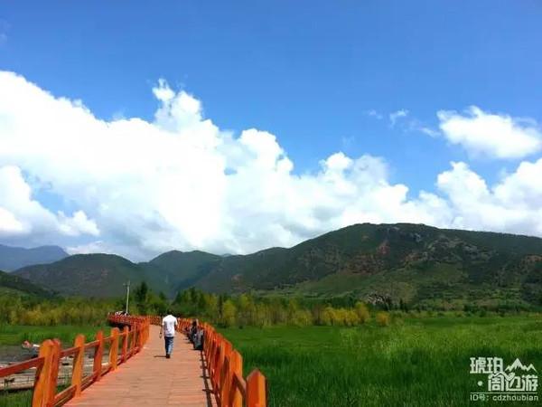 沪沽湖景区的手绘地图