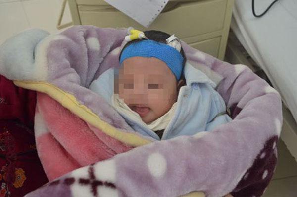 涉案的女婴。