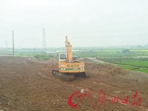 北部片区重点工程施工现场。