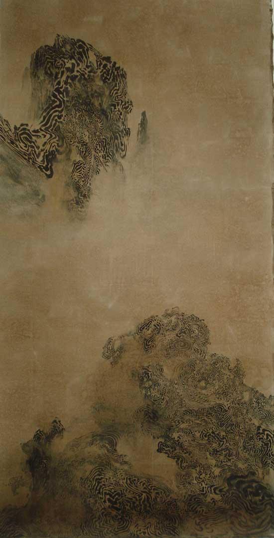 李曦-Bardo-Mind-Landscape-综合媒材-320x170cm-2009