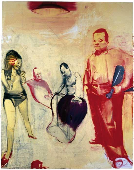 马轲-Under-the-Light-布面油画-254x200cm-2008