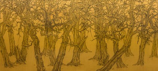 倪有鱼-Forest-布面油画-200x440cm-2014