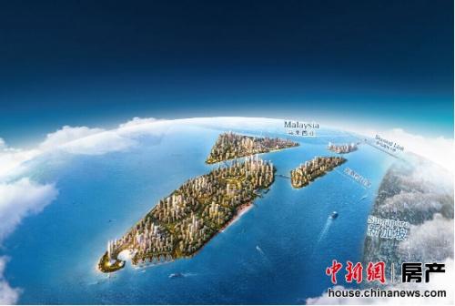 碧桂园森林城市占地大约14平方公里,距离新加坡直线距离约2公里。
